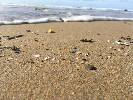 Micro-plastic on a beach